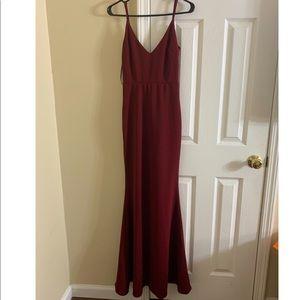 Lulu's Dresses - Infinite Glory Wine Red Maxi Dress